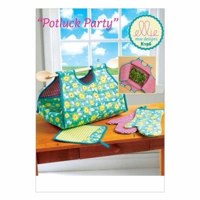 Kwik Sewing Pattern K0196 Potholder, Mitts, and Casserole Carrier