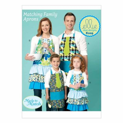 Kwik Sewing Pattern K0209 Adults/Kids' Aprons