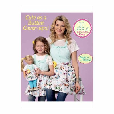 "Kwik Sewing Pattern K0223 Misses'/Girls'/18"" Dolls' Matching Full Aprons"