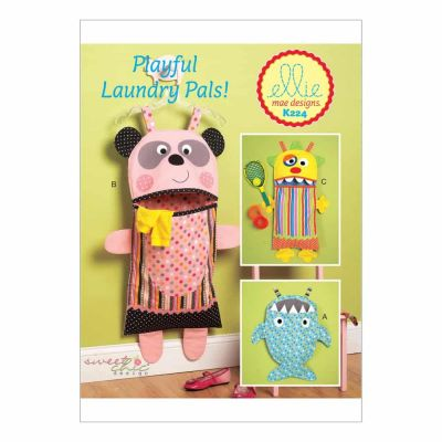 Kwik Sewing Pattern K0224 Shark, Panda and Monster Laundry Bags