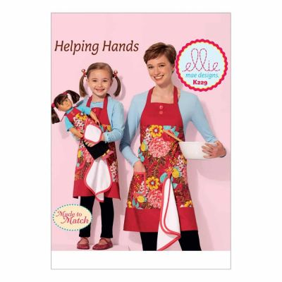 "Kwik Sewing Pattern K0229 Misses', Girls' and 18"" Doll Aprons with Detachable Towel"