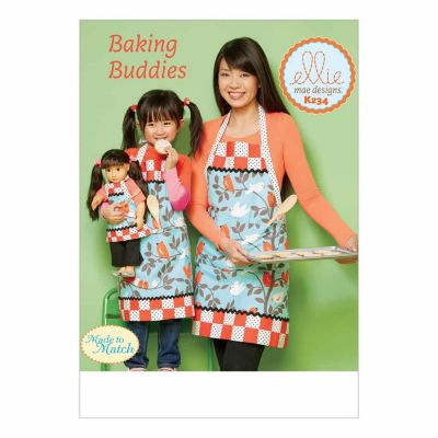 "Kwik Sewing Pattern K0234 Misses'/Girls' and 18"" Doll Lined Aprons with Patch Pockets and Bands"