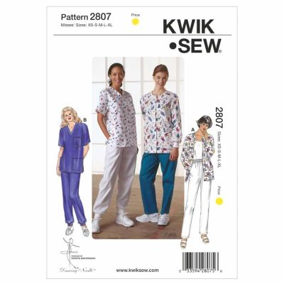 Kwik Sewing Pattern K2807 Scrubs