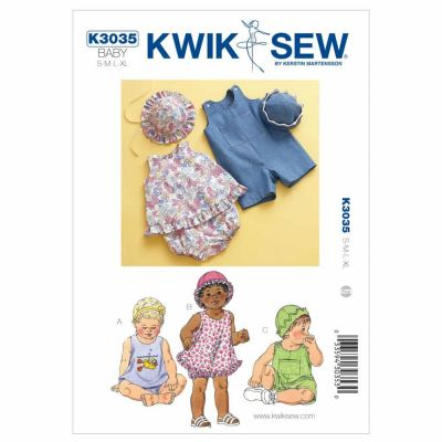 Kwik Sewing Pattern K3035 Sundress, Bloomers, Shortalls & Hats