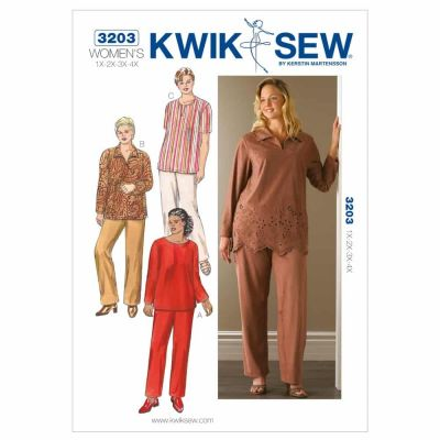 Kwik Sewing Pattern K3203 Tunics & Pants
