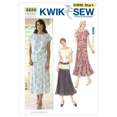 Kwik Sewing Pattern K3233 Tops & Skirt