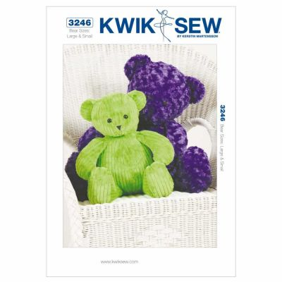 Kwik Sewing Pattern K3246 Teddy Bears