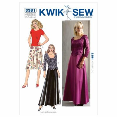 Kwik Sewing Pattern K3381 Tops & Skirts