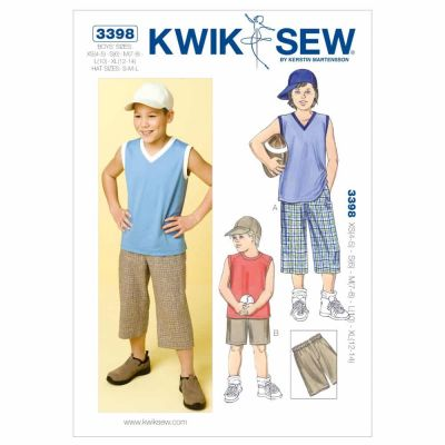 Kwik Sewing Pattern K3398 Shorts, Shirts & Hat