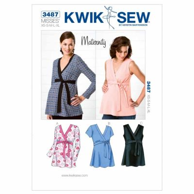 Kwik Sewing Pattern K3487 Maternity Tops