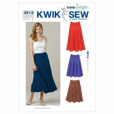 Kwik Sewing Pattern K3513 Skirts