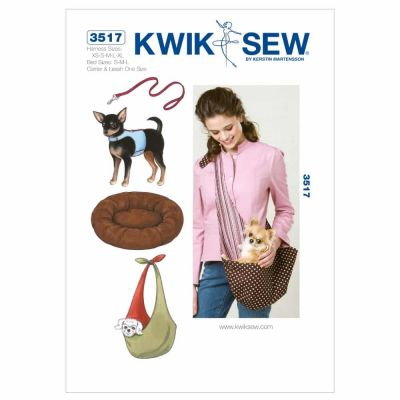 Kwik Sewing Pattern K3517 Harness, Leash, Bed and Carrier