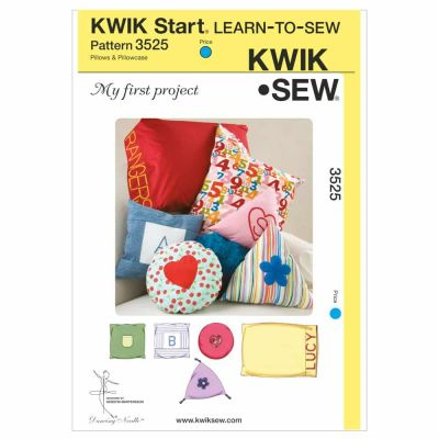 Kwik Sewing Pattern K3525 My First Project Pillows and Pillowcase