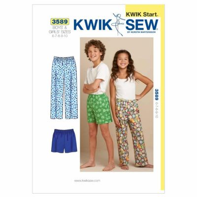 Kwik Sewing Pattern K3589 Sleep Pants & Shorts