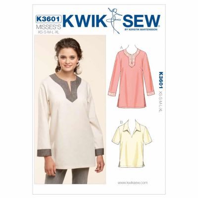 Kwik Sewing Pattern K3601 Pull-Over Tops
