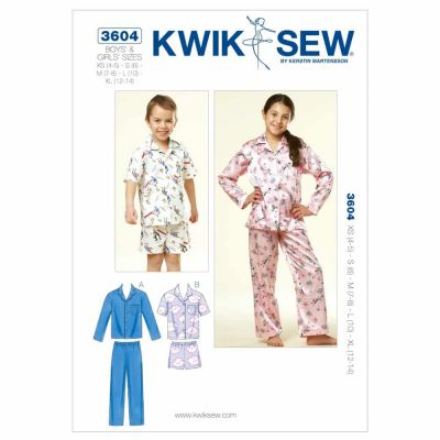 Kwik Sewing Pattern K3604 Boys' and Girls' Pajamas