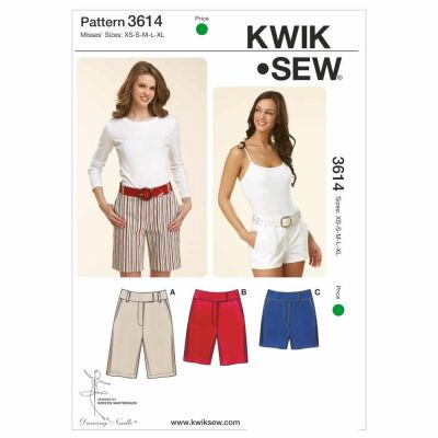 Kwik Sewing Pattern K3614 Fitted Shorts