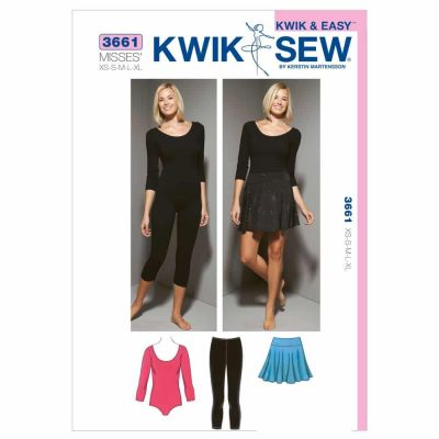 Kwik Sewing Pattern K3661 Leotard, Leggings & Skirt