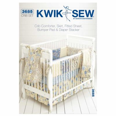 Kwik Sewing Pattern K3685 Crib Comforter, Skirt, Fitted Sheet, Bumper Pad & Diaper Stacker