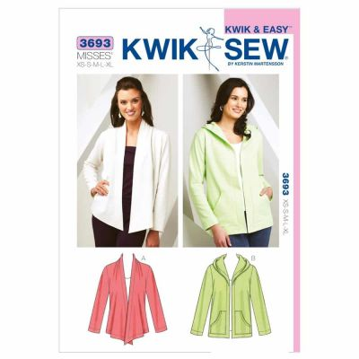 Kwik Sewing Pattern K3693 Cardigans