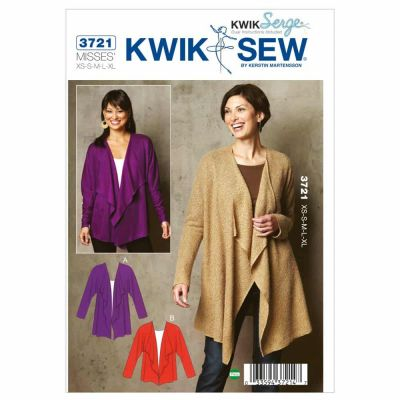 Kwik Sewing Pattern K3721 Cardigans