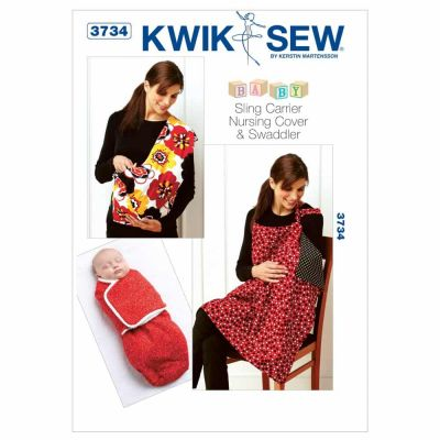 Kwik Sewing Pattern K3734 Swaddler, Sling Carrier & Nursing Cover