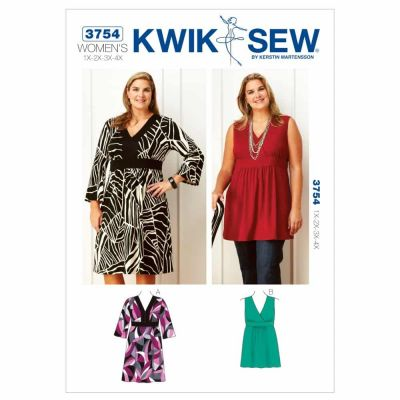 Kwik Sewing Pattern K3754 Dress & Tunic