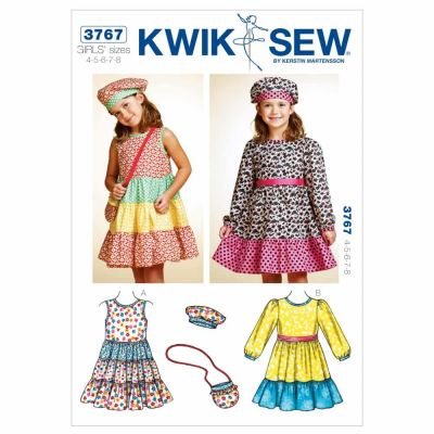 Kwik Sewing Pattern K3767 Dresses, Hat & Bag
