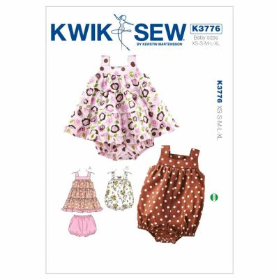 Kwik Sewing Pattern K3776 Dress, Bloomers & Romper