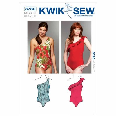Kwik Sewing Pattern K3780 One Shoulder Swimsuits