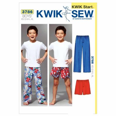 Kwik Sewing Pattern K3786 Sleep Pants & Shorts