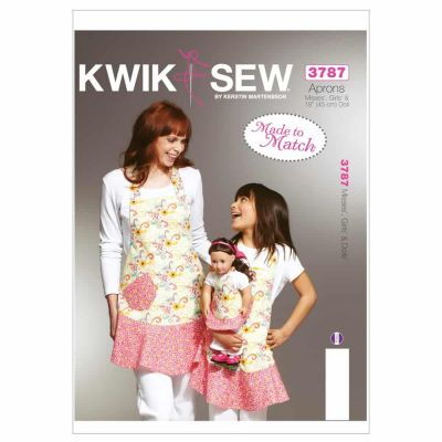 Kwik Sewing Pattern K3787 Misses', Girls' & Dolls' Aprons