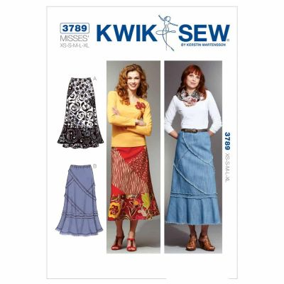 Kwik Sewing Pattern K3789 Patchy Skirts