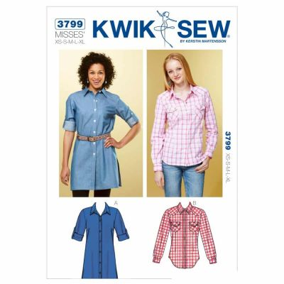 Kwik Sewing Pattern K3799 Shirts
