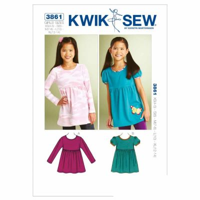 Kwik Sewing Pattern K3861 Butterfly Tops