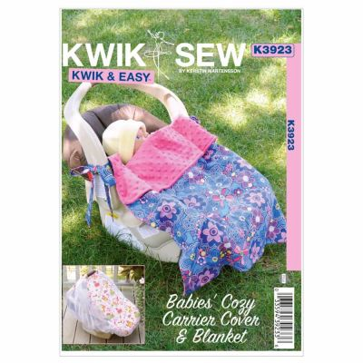 Kwik Sewing Pattern K3923 Babies' Cozy Carrier Cover & Blanket