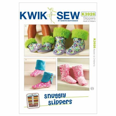 Kwik Sewing Pattern K3926 Snuggly Slippers