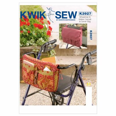 Kwik Sewing Pattern K3927 Wheelchair & Walker Carryall & Carrier Bag