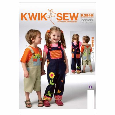 Kwik Sewing Pattern K3948 Toddlers' Overalls