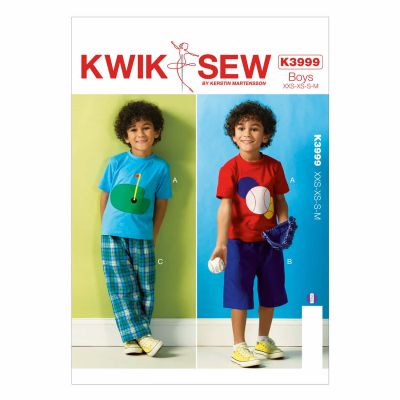 Kwik Sewing Pattern K3999 Boys' Top, Shorts and Pants