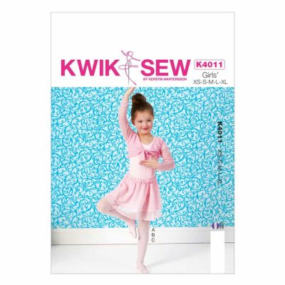 Kwik Sewing Pattern K4011 Girls' Shrug, Leotard and Skirt