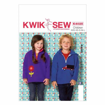 Kwik Sewing Pattern K4025 Boys'/Girls' Tops