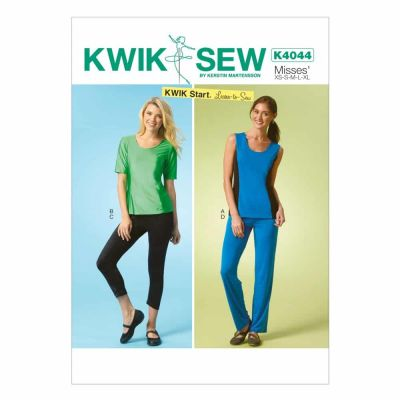 Kwik Sewing Pattern K4044 Misses' Tops, Shorts and Pants