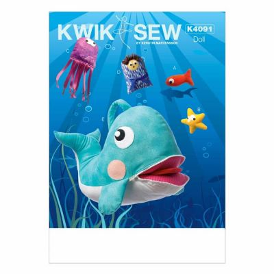 Kwik Sewing Pattern K4091 Jonah and Whale Toy
