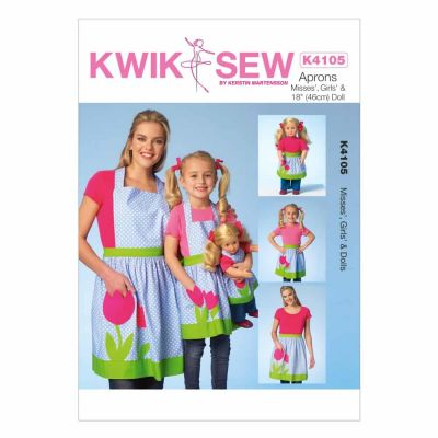 Kwik Sewing Pattern K4105 Misses'/Girls'/Dolls' Aprons
