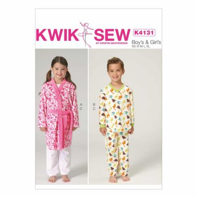 Kwik Sewing Pattern K4131 Boys'/Girls' Robe, Belt, Top and Pants
