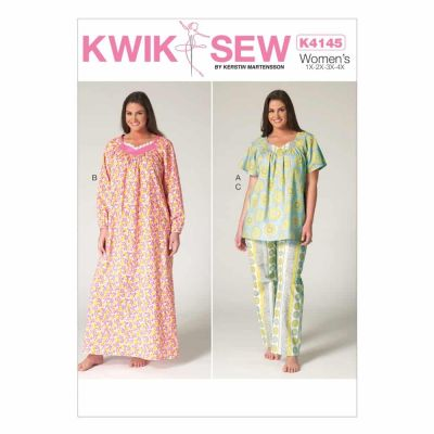 Kwik Sewing Pattern K4145 Women's Top, Nightgown and Pants