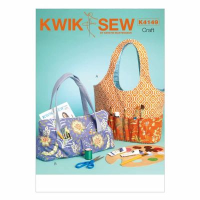 Kwik Sewing Pattern K4149 Hobby Tote and Bag