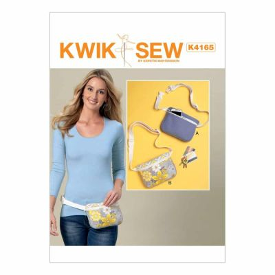 Kwik Sewing Pattern K4165 Zip-Closure Belly Bags