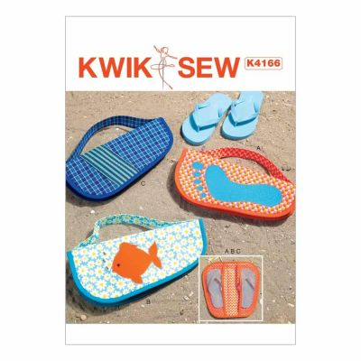 Kwik Sewing Pattern K4166 Appliquéd Flip Flop Cases